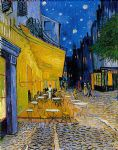 the cafe terrace by vincent van gogh watercolor paintings