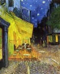 vincent van gogh the cafe terrace on the place de forum arles at night oil paintings