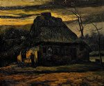 vincent van gogh the cottage 1885 painting-23774