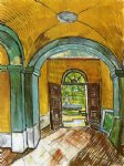 the entrance hall of saint by vincent van gogh painting