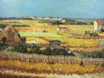 vincent van gogh watercolor paintings - the harvest iv by vincent van gogh