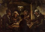 the potato eaters by vincent van gogh watercolor paintings