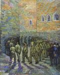 the prison courtyard by vincent van gogh watercolor paintings
