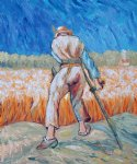 the reaper after millet ii by vincent van gogh painting