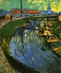 women art - the roubine du roi canal with washerwomen by vincent van gogh