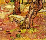 vincent van gogh the stone bench in the garden at saint painting