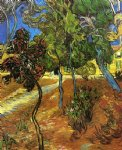 vincent van gogh trees in the garden of saint painting-23862