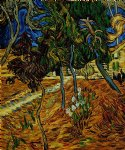 vincent van gogh trees in the garden of st. paul hospital painting-23863