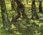 vincent van gogh trunks of trees with ivy painting-23864