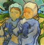 children art - two children by vincent van gogh