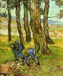 vincent van gogh two diggers among trees painting-23868