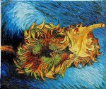 two sunflowers ii by vincent van gogh painting