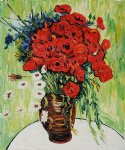 vincent van gogh vase with daisies and poppies painting 23885