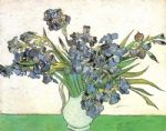 vincent van gogh acrylic paintings - vase with irises by vincent van gogh