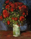 vincent van gogh vase with red poppies painting 23895