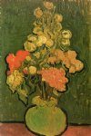 handmade art - vase with rose by vincent van gogh