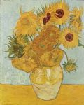 flower oil paintings - vase with twelve sunflowers 1888 by vincent van gogh