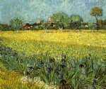 vincent van gogh view of arles with irises painting