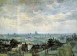 paris art - view of the roofs of paris by vincent van gogh