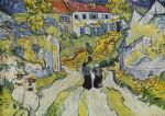 vincent van gogh village street and stairs with figures posters