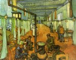 vincent van gogh ward in the hospital at arles painting