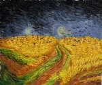 wheat field with crows iii by vincent van gogh painting