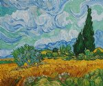 wheat field with cypresses ii by vincent van gogh painting