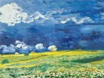 vincent van gogh wheatfield under a cloudy sky painting 85064