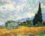 vincent van gogh wheatfield with cypress painting