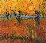vincent van gogh willows at sunset painting