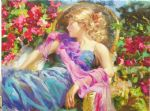 sun drenched garden by vladimir volegov original paintings