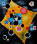 wassily kandinsky original paintings - accent en rose by wassily kandinsky