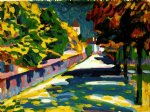autumn in bavaria by wassily kandinsky watercolor paintings