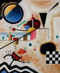 contrasting sounds ii by wassily kandinsky painting