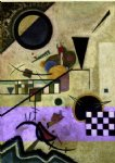 contrasting sounds by wassily kandinsky painting