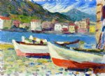 rapallo boats by wassily kandinsky painting