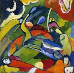 wassily kandinsky two riders and reclining figure paintings