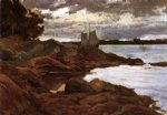 willard leroy metcalf art - close of day on the maine shore by willard leroy metcalf