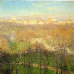 willard leroy metcalf early spring afternoon central park posters