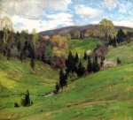 willard leroy metcalf original paintings - flying shadows ii by willard leroy metcalf