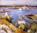 gloucester harbor by willard leroy metcalf acrylic paintings