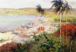 havana harbor by willard leroy metcalf acrylic paintings