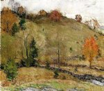 hillside pasture by willard leroy metcalf acrylic paintings