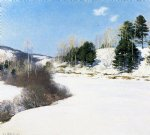 hush of winter by willard leroy metcalf acrylic paintings