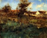 landscape by willard leroy metcalf acrylic paintings