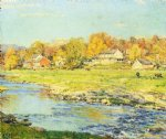 willard leroy metcalf original paintings - late afternoon in october by willard leroy metcalf