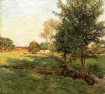 lenghtening shadows by willard leroy metcalf acrylic paintings