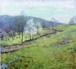 may afternoon by willard leroy metcalf acrylic paintings