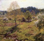 willard leroy metcalf acrylic paintings - maytime by willard leroy metcalf