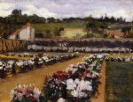 willard leroy metcalf original paintings - monet s formal garden by willard leroy metcalf